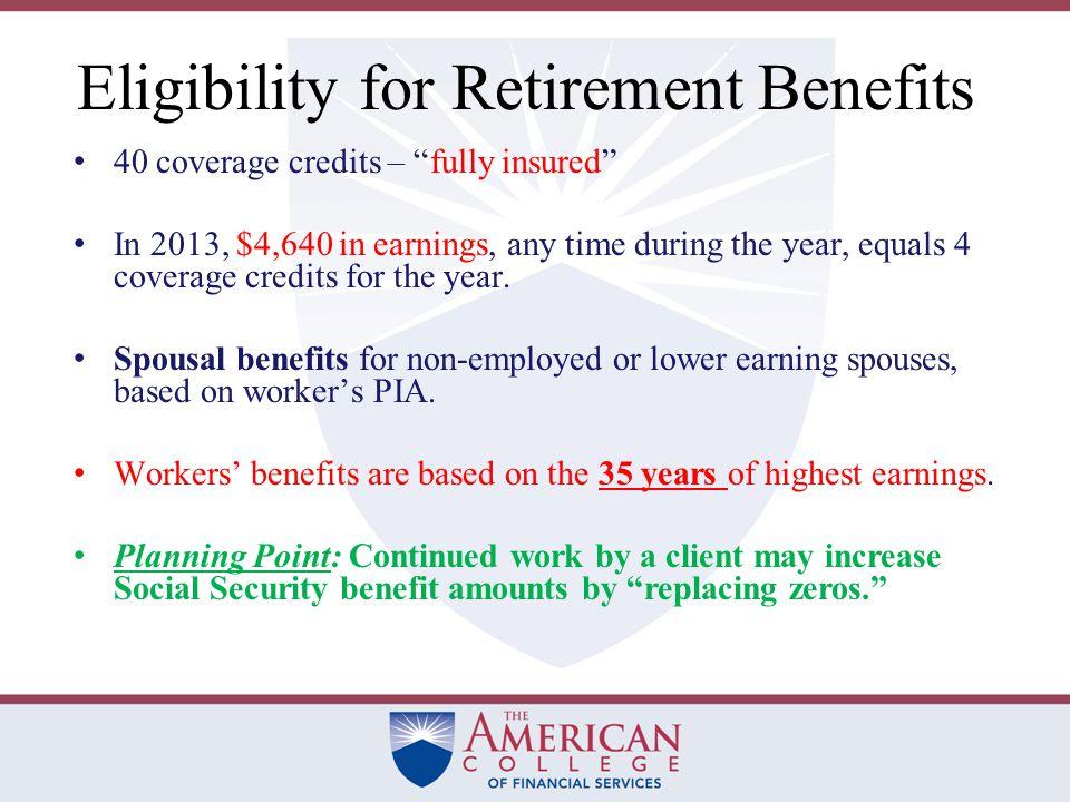 Maximum Benefit Amounts AgePer MonthPer Year 62$1,875$22,500 66$2,500$30,000 70$3,300$39,600