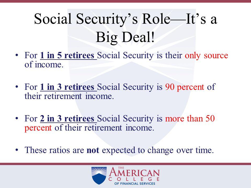 Social Security's Role—It's a Big Deal.
