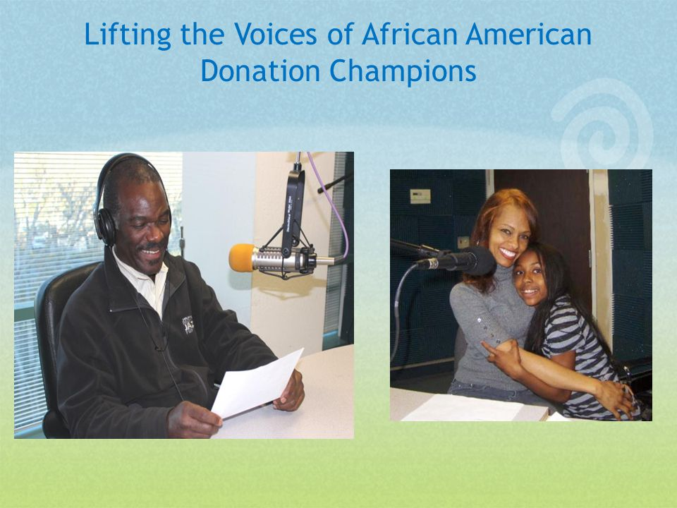 Lifting the Voices of African American Donation Champions