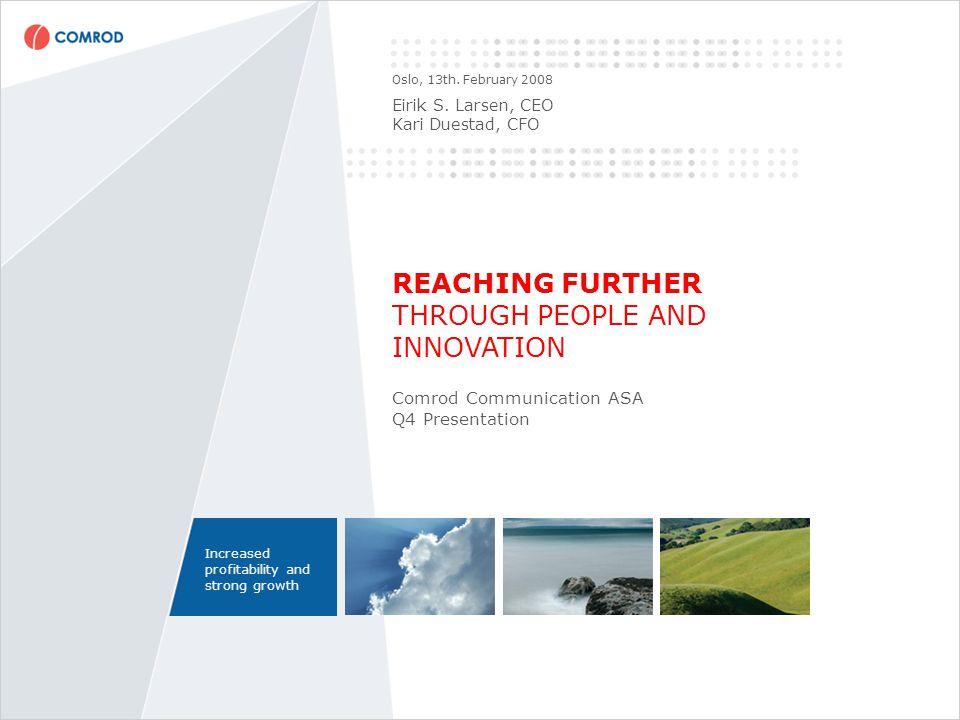 AGENDA I.Q4 highlights and introduction II.Q4 Financials III.Business Areas Highlights IV.Summary