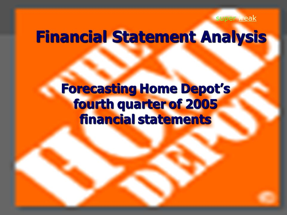 2 Overview of business/industry World's largest home improvement retailer and 2 nd largest retailer in the U.S.
