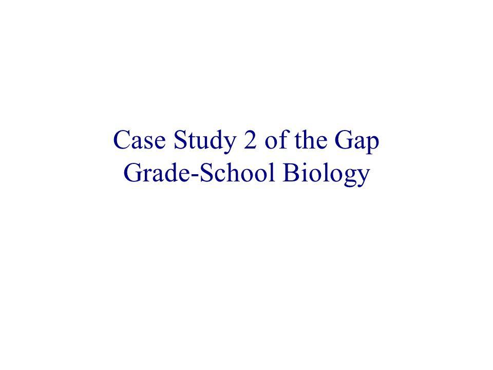 Case Study 2 of the Gap Grade-School Biology