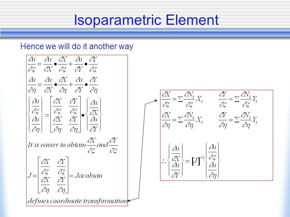 Isoparametric Element Hence we will do it another way