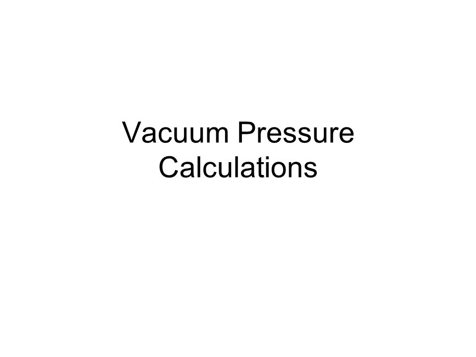 2 Vaccalc The program vaccalc was used for all calculations.