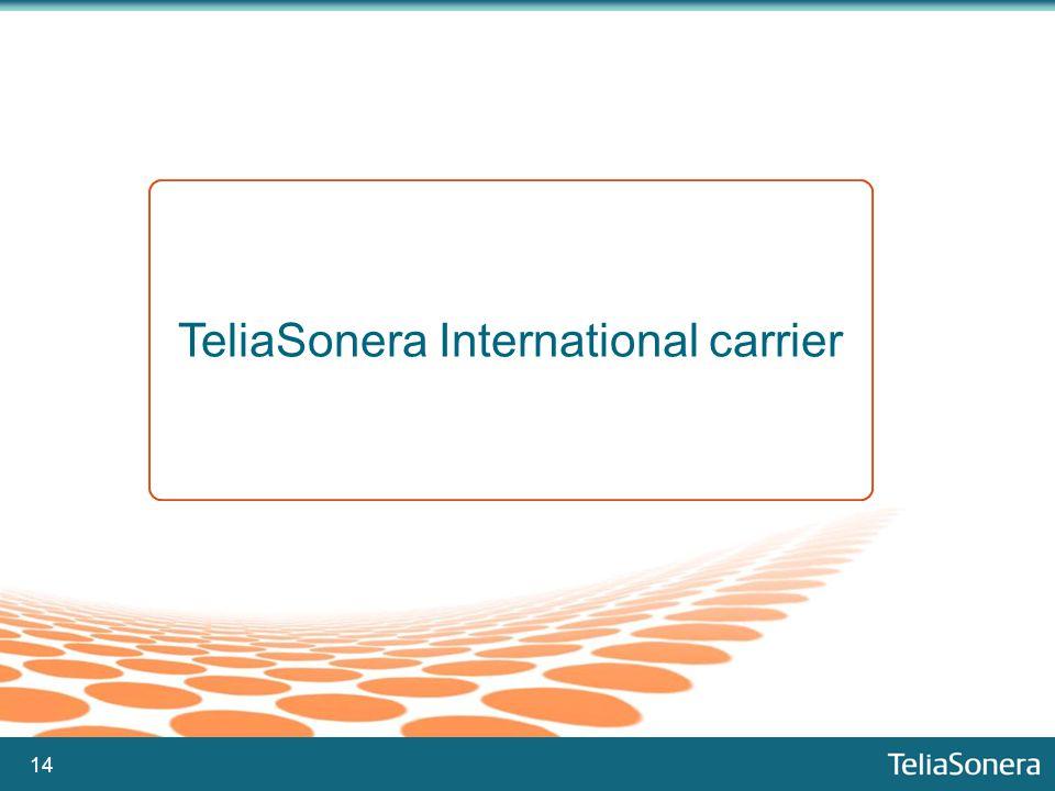 14 TeliaSonera International carrier