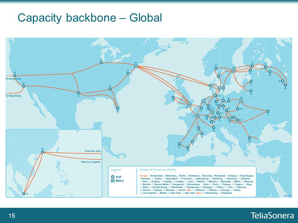 15 Capacity backbone – Global