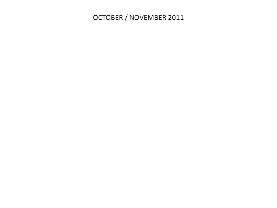 OCTOBER / NOVEMBER 2011