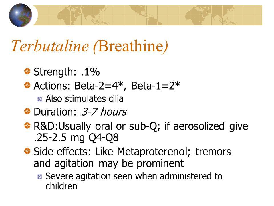 Terbutaline (Breathine)