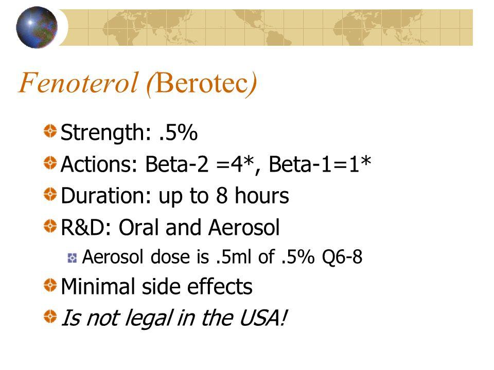 Fenoterol (Berotec)