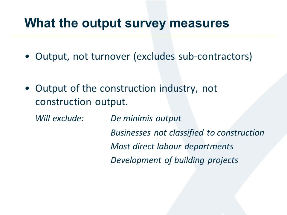The output questionnaire