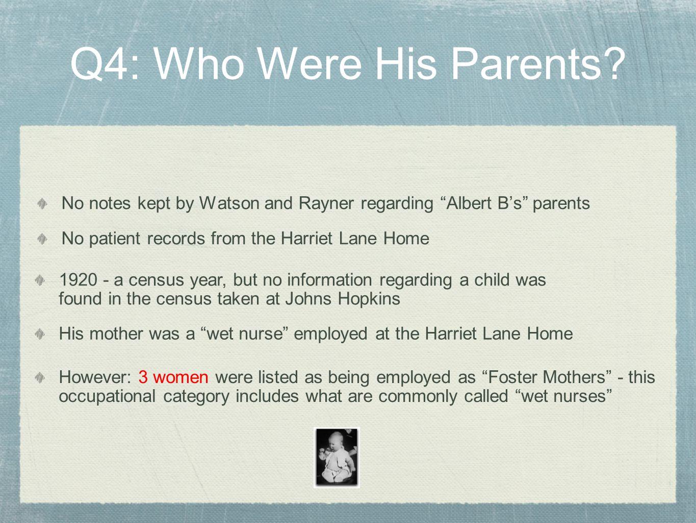 Ethel Carter Pearl Barger Arvilla Merritte Q4: Who Were His Parents? (black woman)