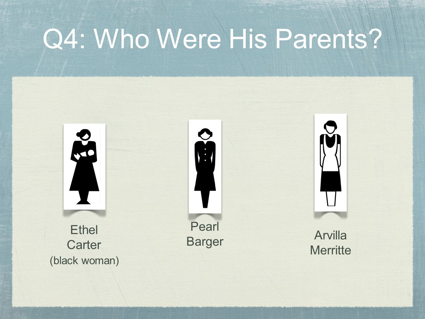 Could Pearl Barger be Albert B's mother.