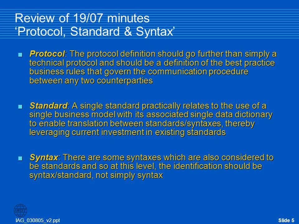 IAG_030805_v2.pptSlide 16 Protocol 'shelf-life': Why is it a problem.