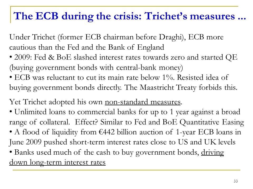 The ECB during the crisis: Trichet's measures...