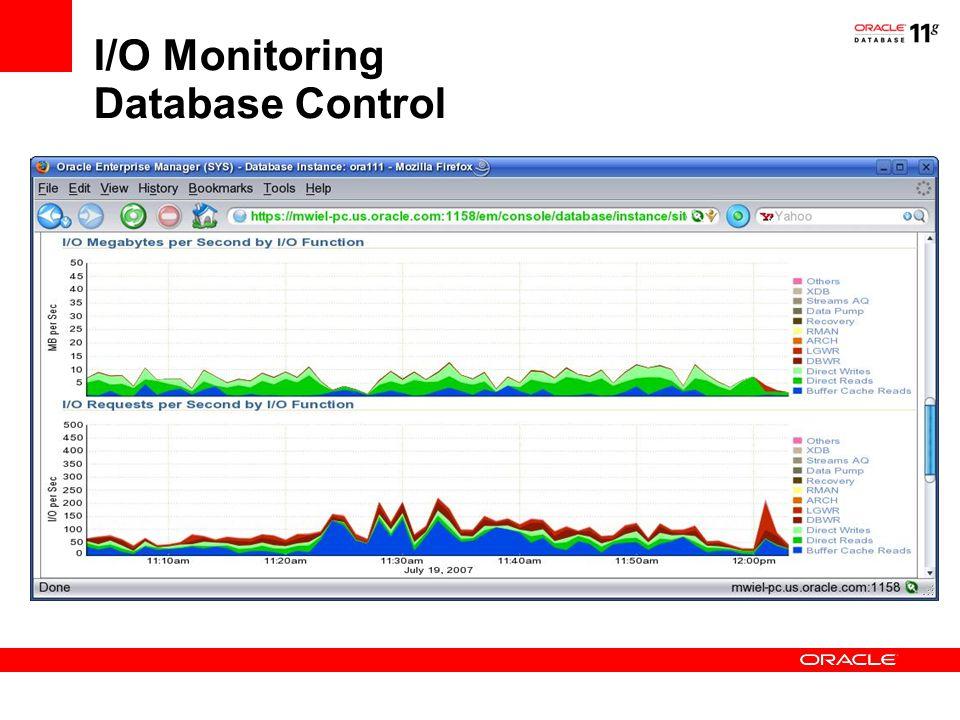 I/O Monitoring Database Control