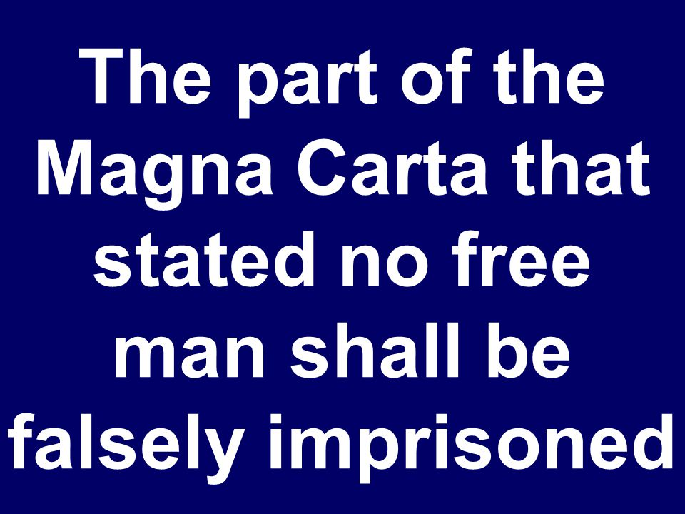 What is the Magna Carta