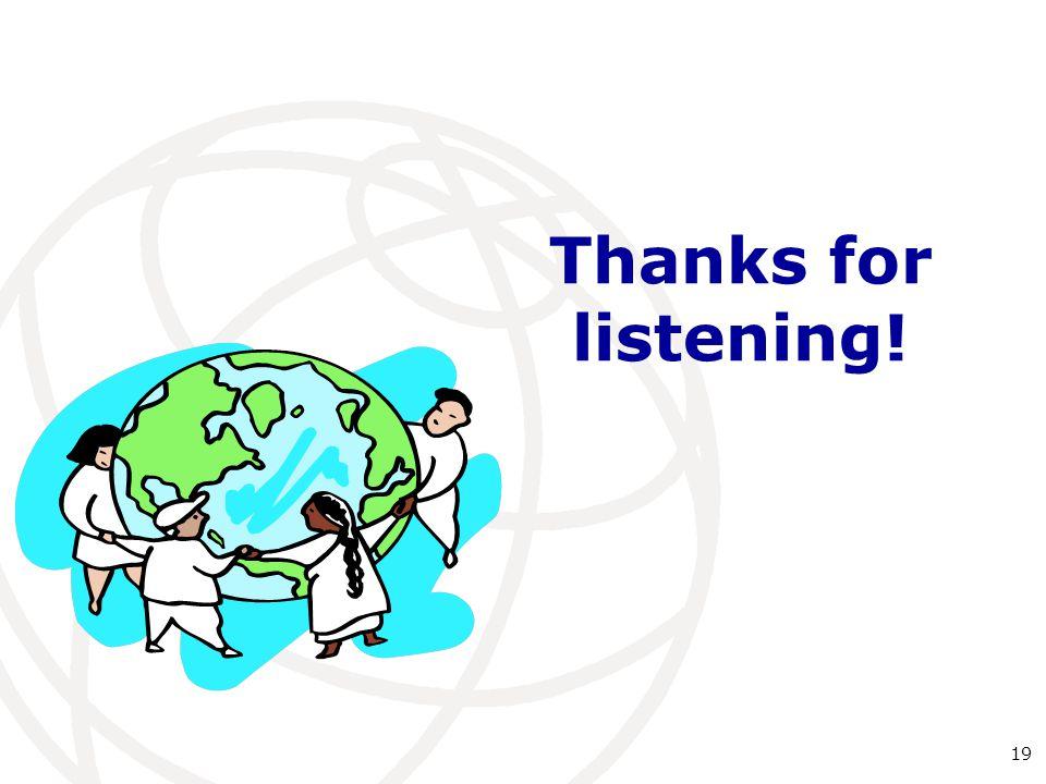 Thanks for listening! 19