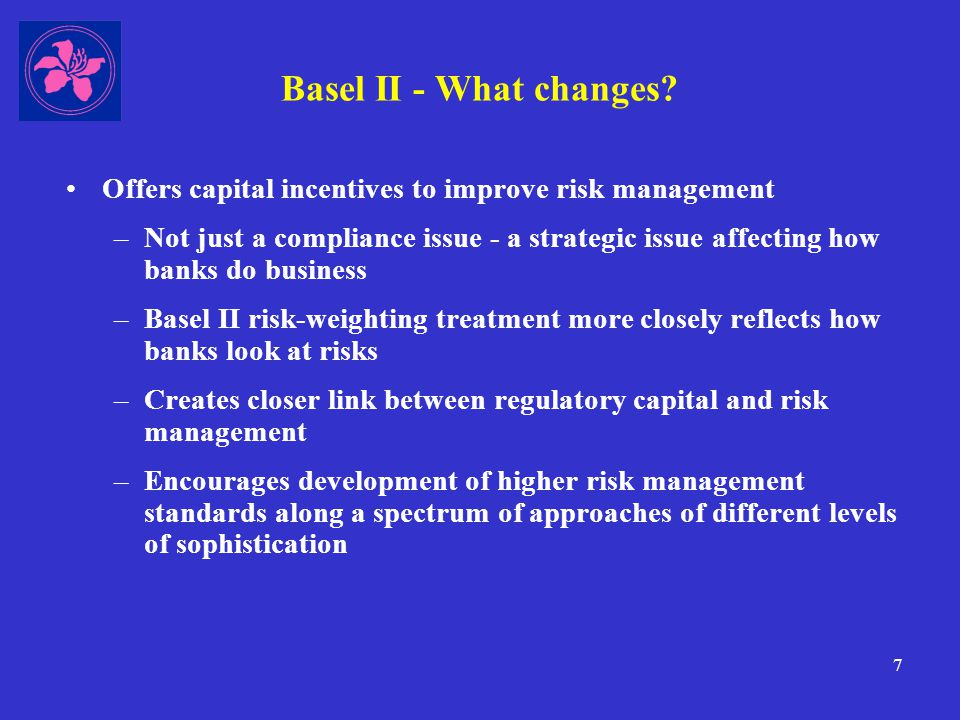 8 Basel II - What changes.