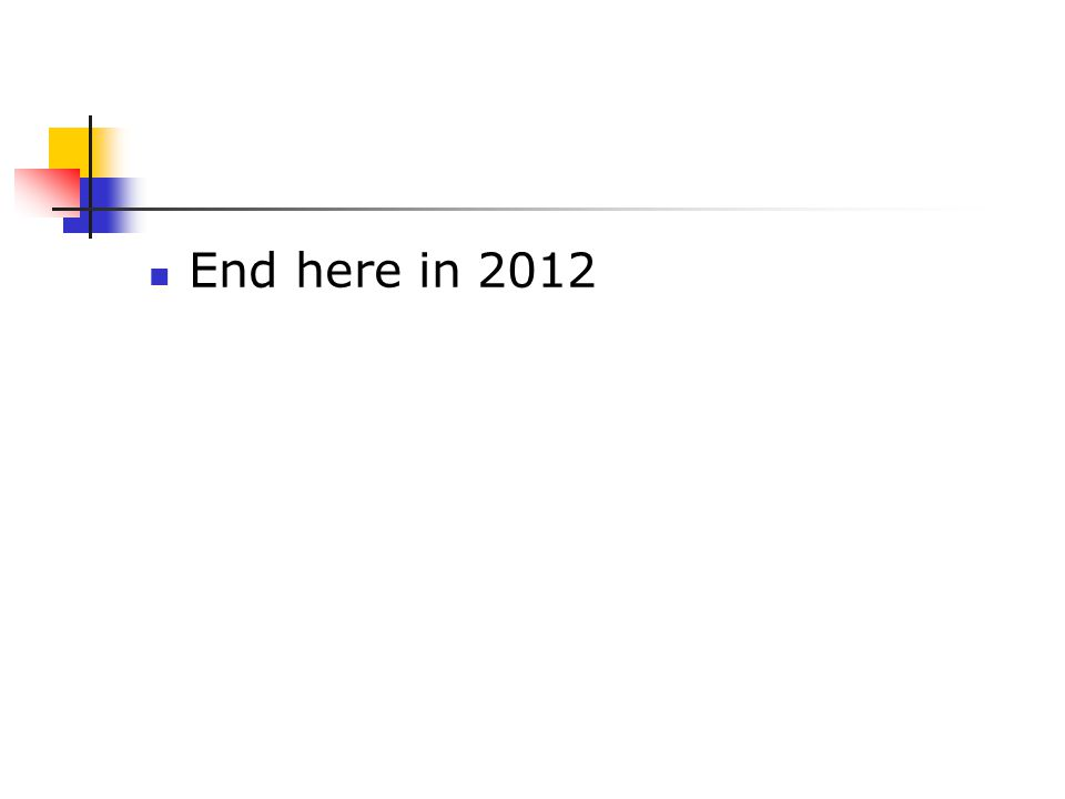 End here in 2012