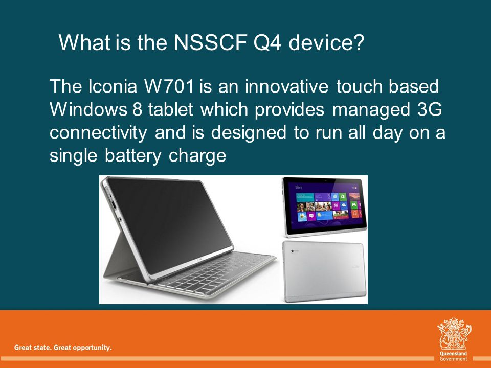 What is the NSSCF Q4 device.