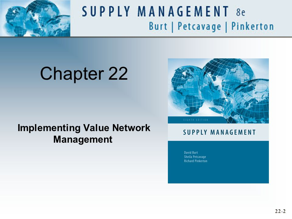 Chapter 22 Implementing Value Network Management 22-2