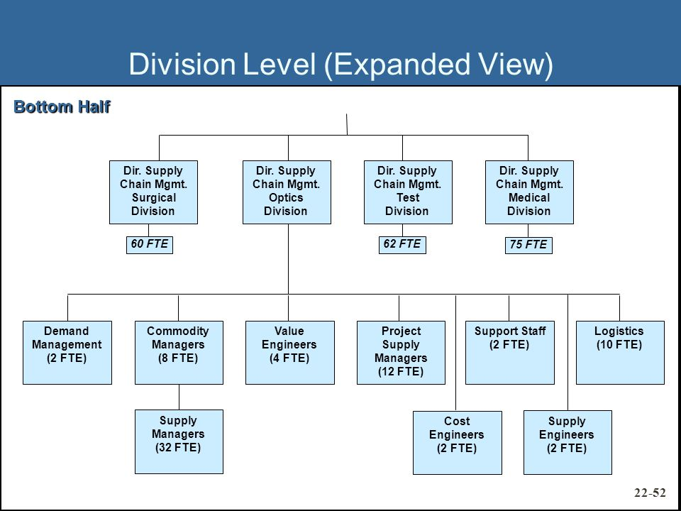 Division Level (Expanded View) Dir. Supply Chain Mgmt.