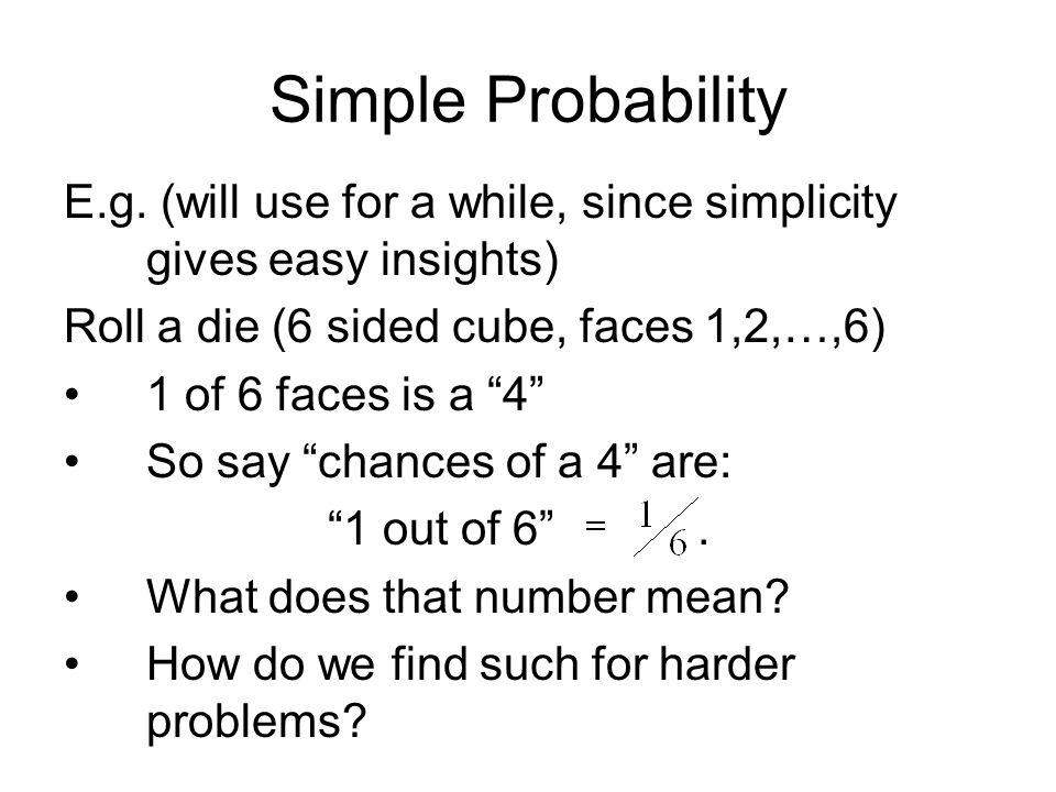 Simple Probability E.g.