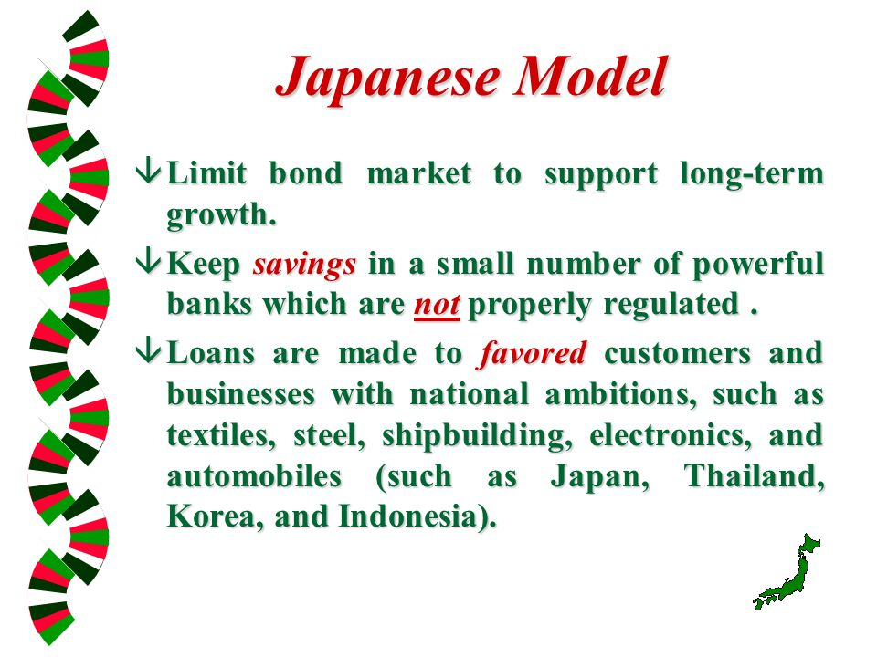 Japanese Model âLimit bond market to support long-term growth.