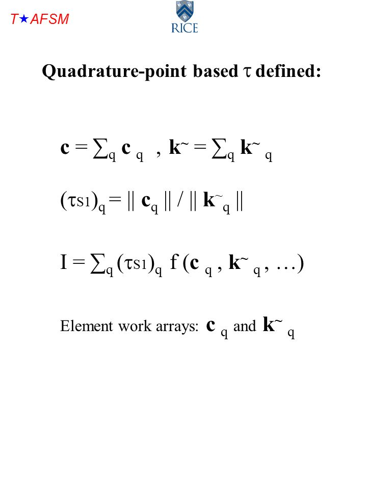 T  AFSM Constant y-plane solution for T3, T6, T10 for  S1 : quadrature-point-based (top), element-based (bottom)