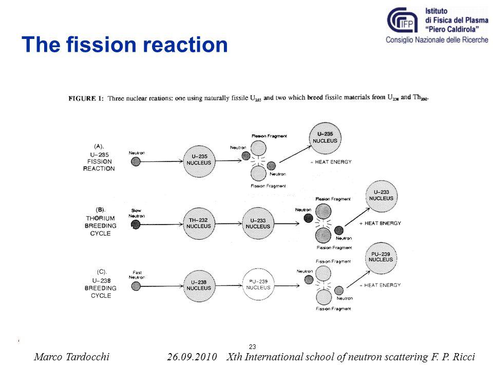 Marco Tardocchi 26.09.2010 Xth International school of neutron scattering F.