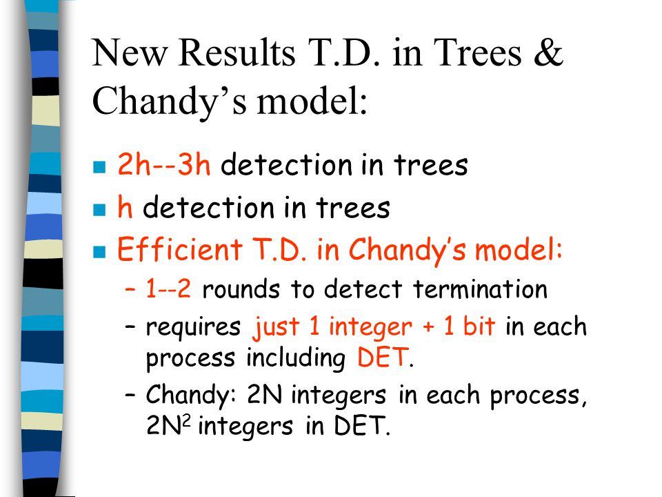 New Results T.D.