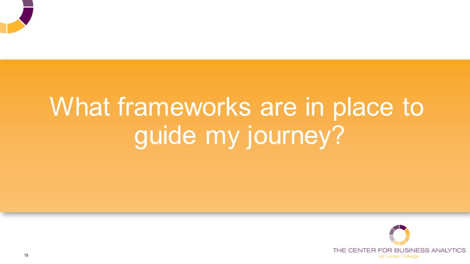 19 What frameworks are in place to guide my journey