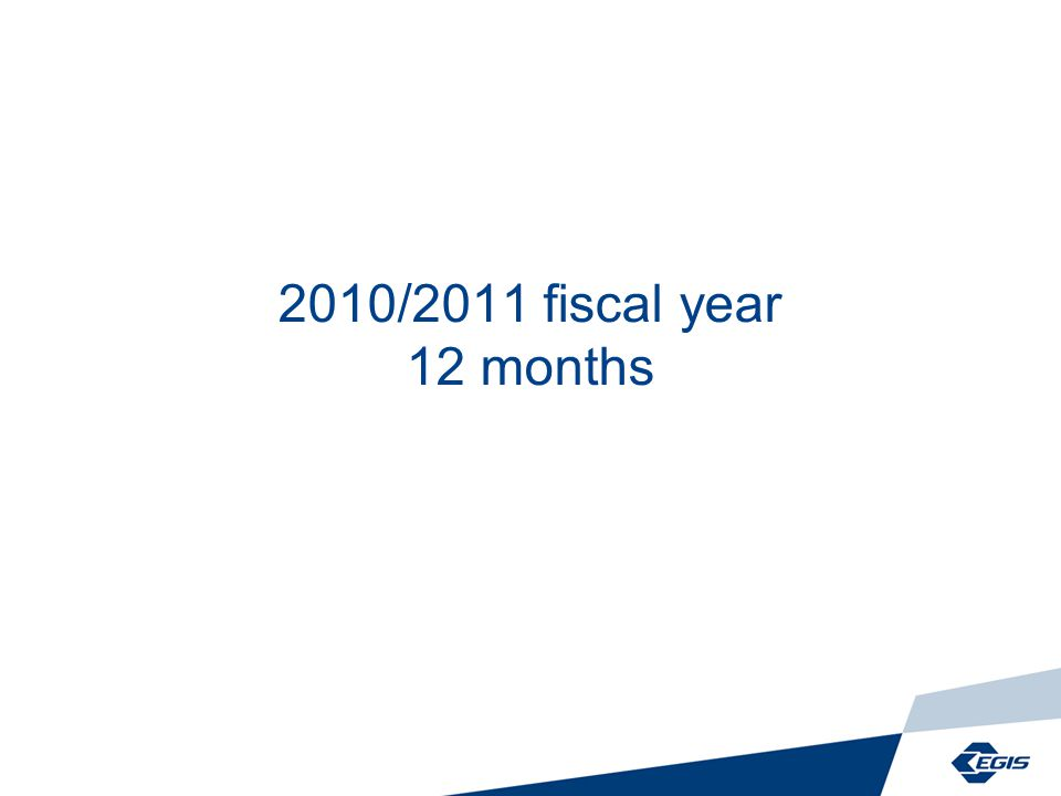 2010/2011 fiscal year 12 months