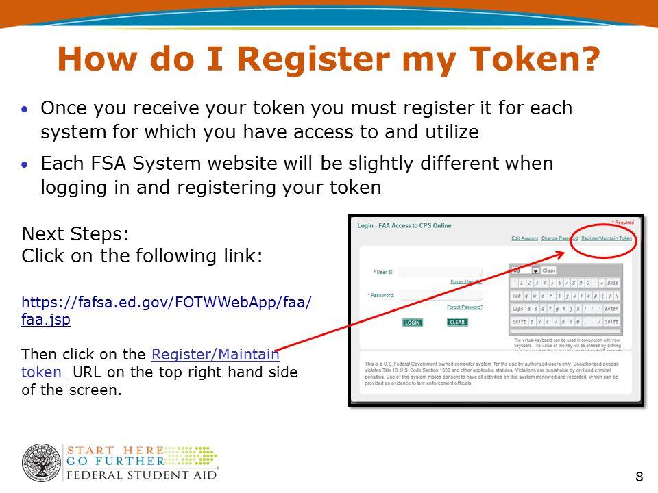 How do I Register my Token.