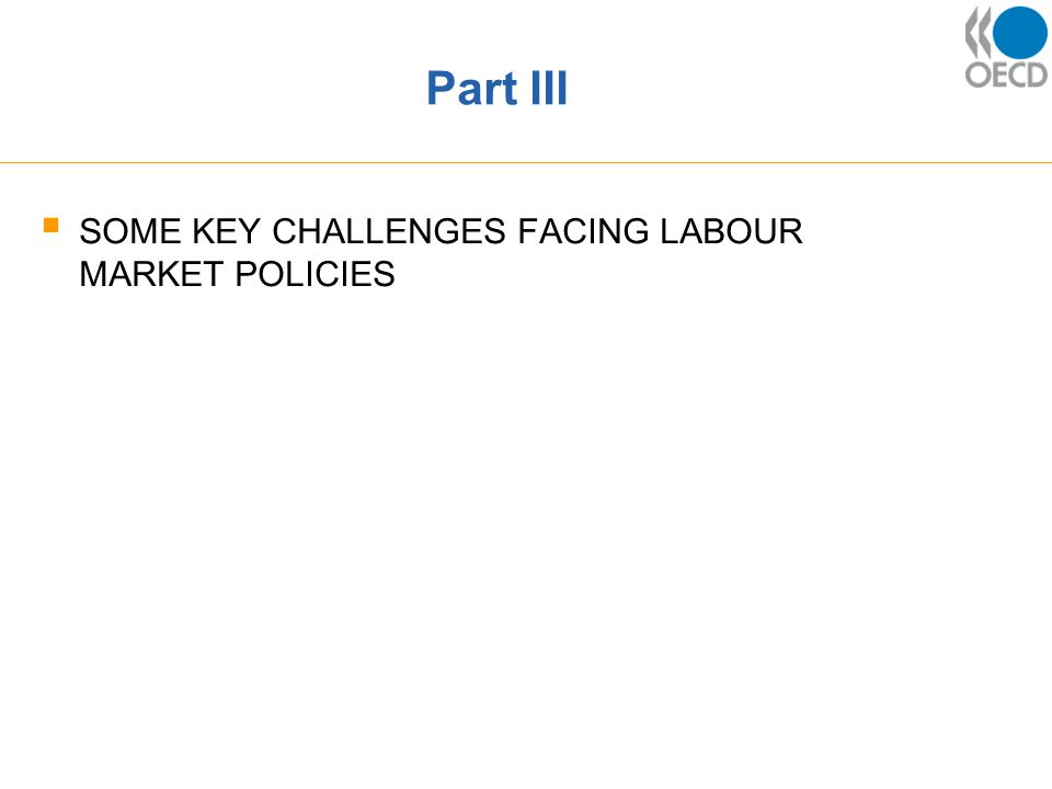 Part III  SOME KEY CHALLENGES FACING LABOUR MARKET POLICIES