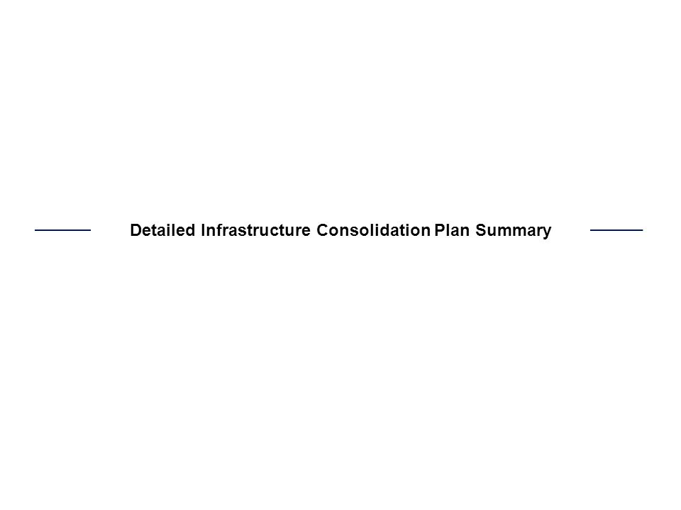 Detailed Infrastructure Consolidation Plan Summary