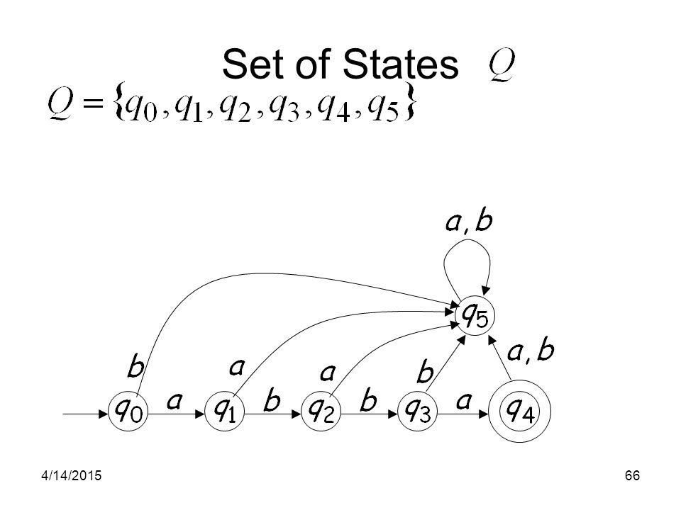 4/14/201566 Set of States