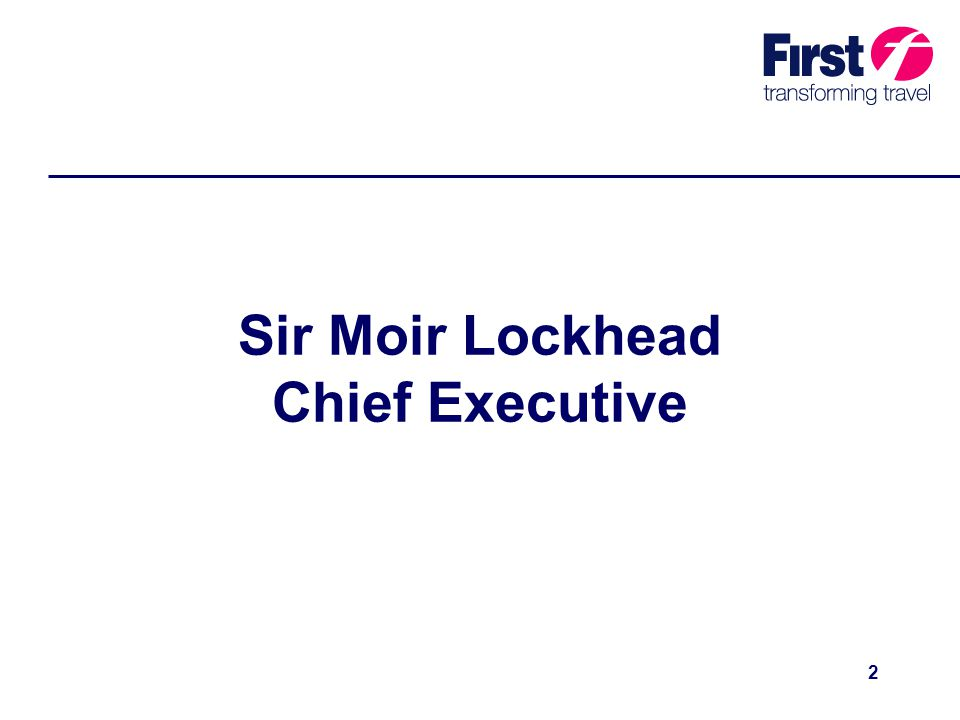 2 Sir Moir Lockhead Chief Executive