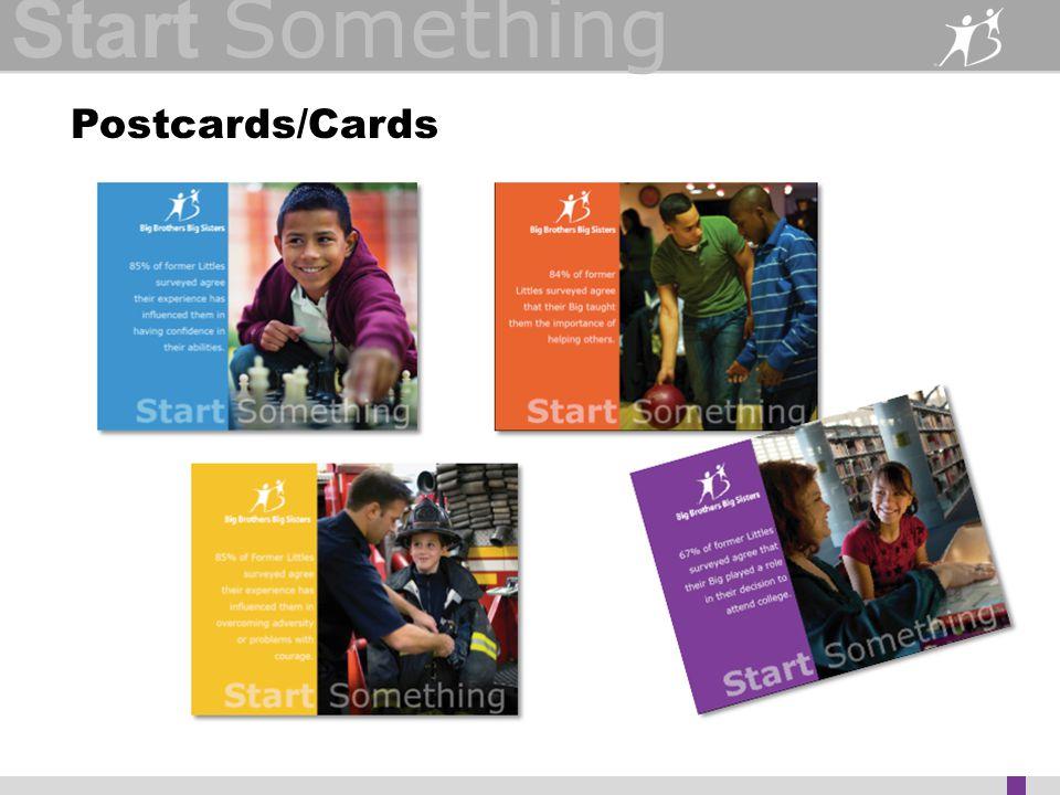 Start Something Postcards/Cards