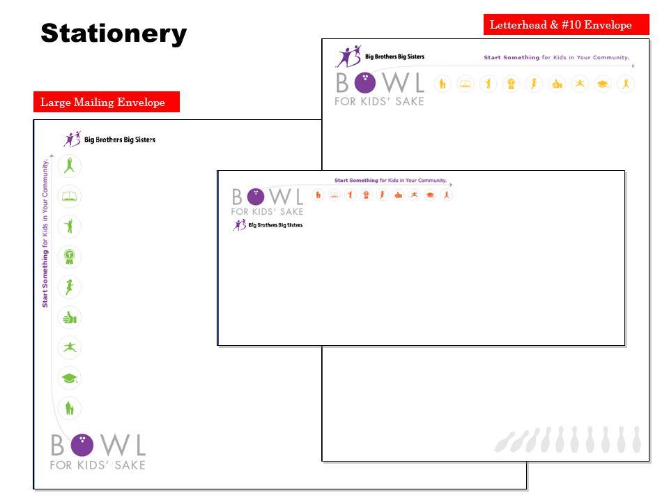 Large Mailing Envelope Letterhead & #10 Envelope Stationery