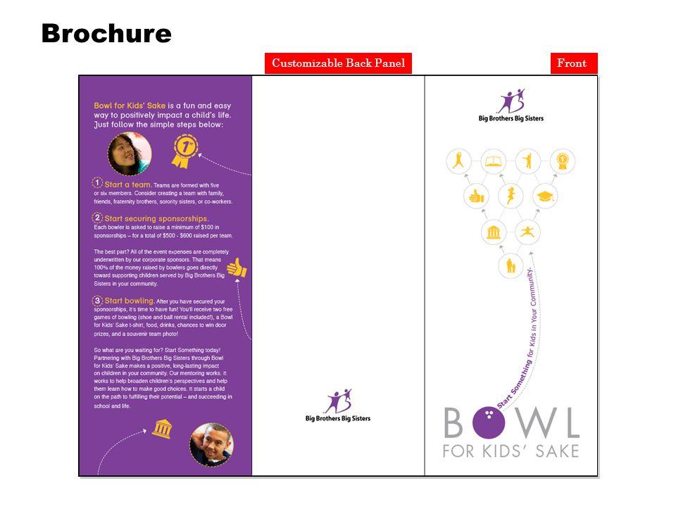FrontCustomizable Back Panel Brochure