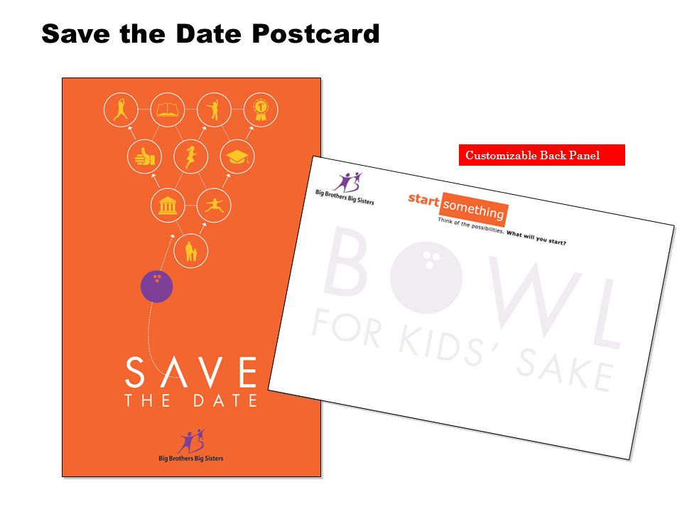 Customizable Back Panel Save the Date Postcard