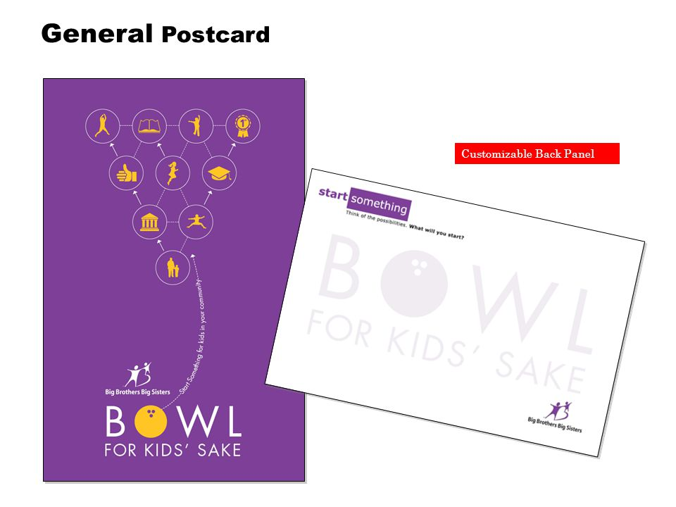 Customizable Back Panel General Postcard