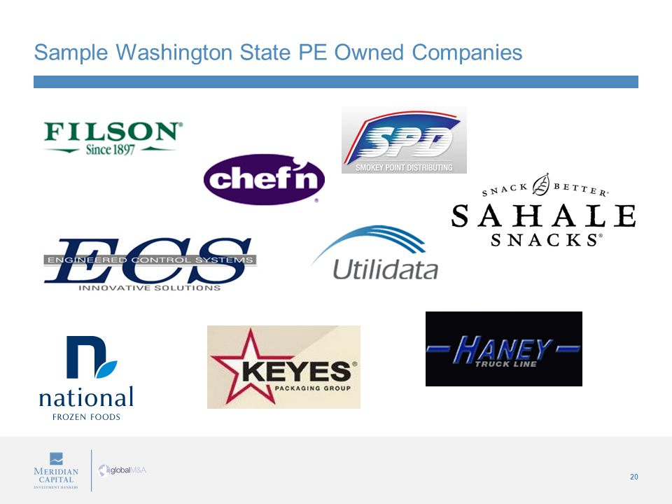 20 Sample Washington State PE Owned Companies