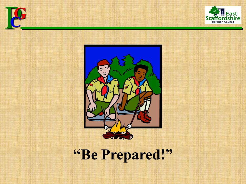 "P G CPG C ""Be Prepared!"""