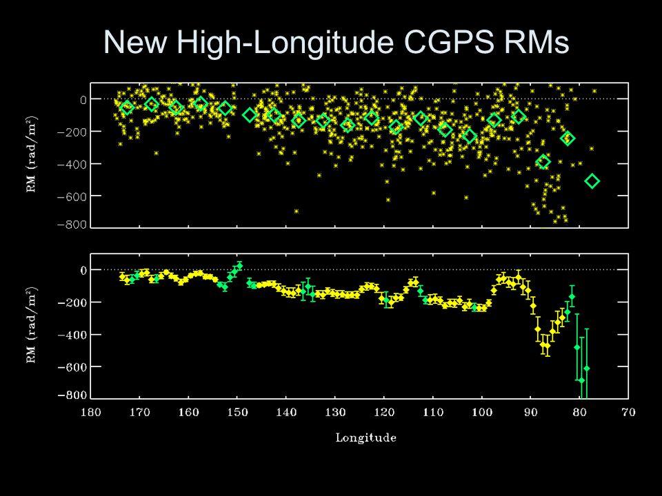 New High-Longitude CGPS RMs