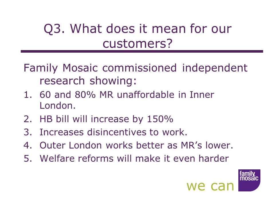 we can Q3. What does it mean for our customers.