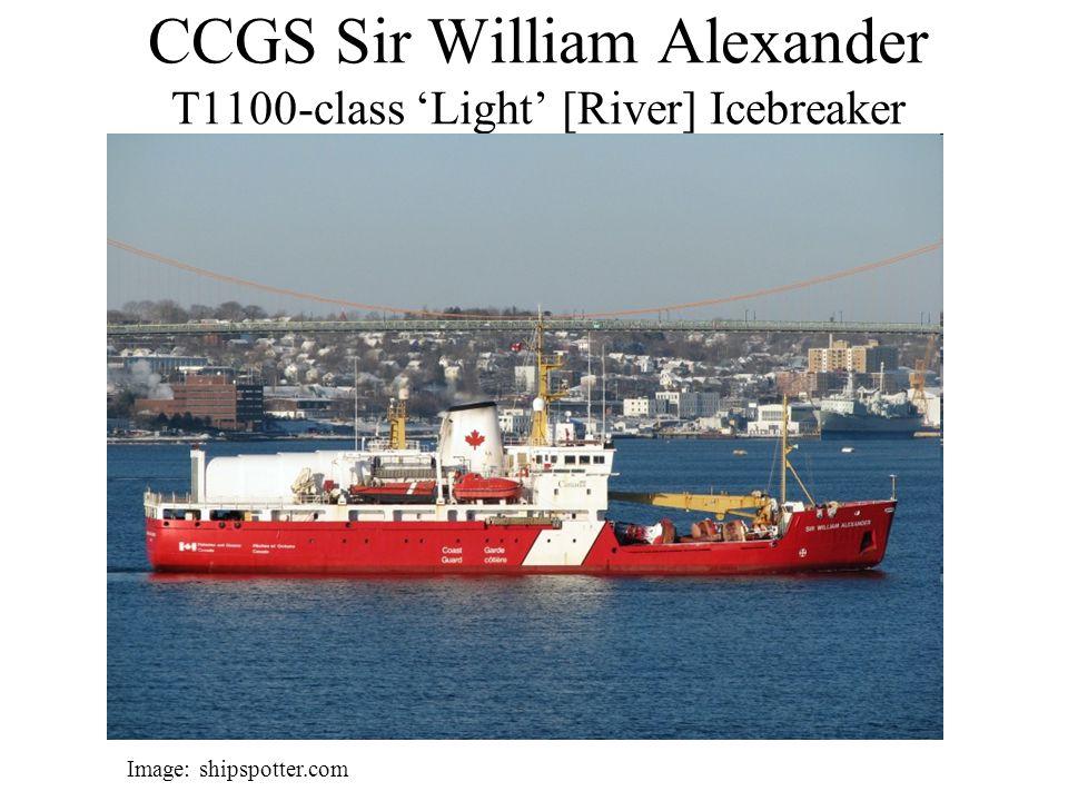 CCGS Sir William Alexander T1100-class 'Light' [River] Icebreaker Image: shipspotter.com