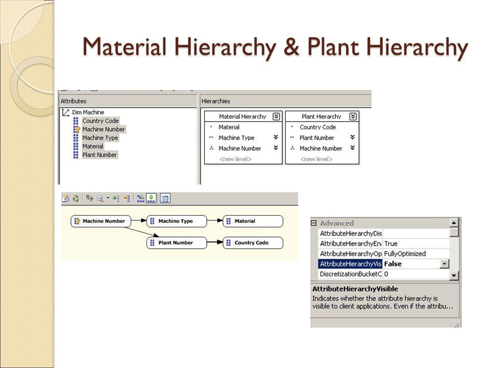 Material Hierarchy & Plant Hierarchy