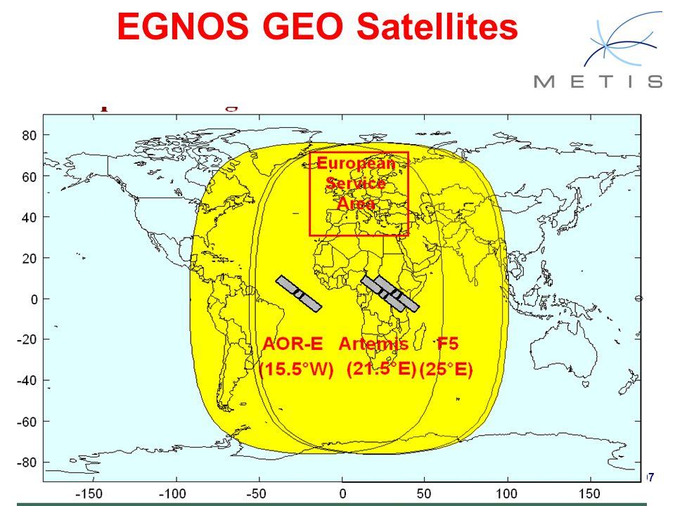 Page 22 METIS First Master Training & Seminar, Ifrane (Morocco), 15-16.03.2007 EGNOS GEO Satellites